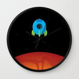 Little Blue Rocket Ship Wall Clock