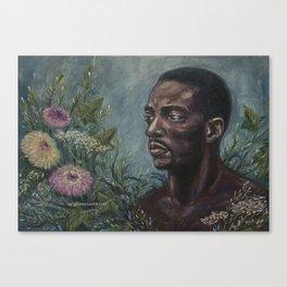 Sam & Flowers Canvas Print