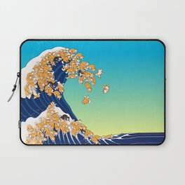 Shiba Inu in Great Wave Laptop Sleeve