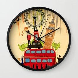 Rainbow Cities ~ London Wall Clock