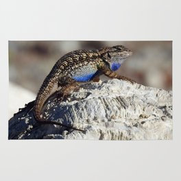 Western Fence Lizard Rug