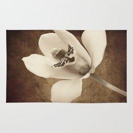 Vintage Flowers Digital Collage 12 Rug