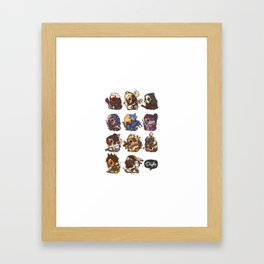 Pugliewatch Collection 1 Framed Art Print