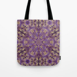 Purple Lace Pattern Tote Bag