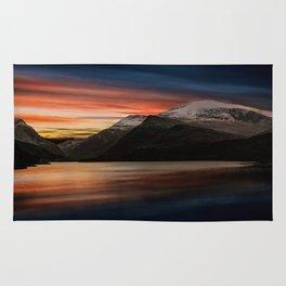 Lake Sunset Snowdonia Rug