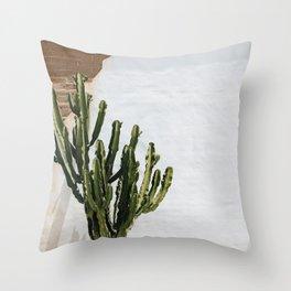California Cactus Throw Pillow