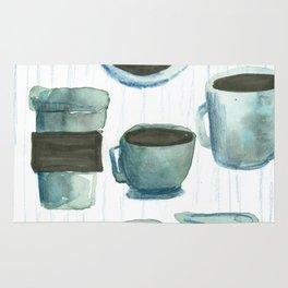 coffees watercolor Rug