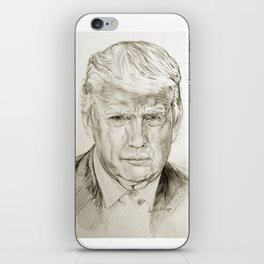 President Donald J Trump by Lydia sturges iPhone Skin