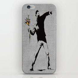 Bansky Flower Bomber iPhone Skin