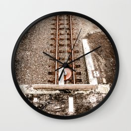 Down To The Tracks Wall Clock
