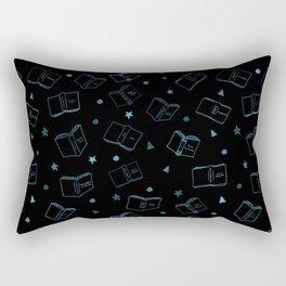 Classic Books Invert Blue Rectangular Pillow
