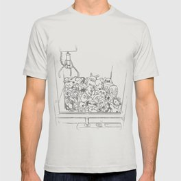 Anime Mascot Claw Machine (GRAY OUTLINE) T-shirt
