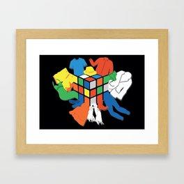 Rubik's Wardrobe Framed Art Print