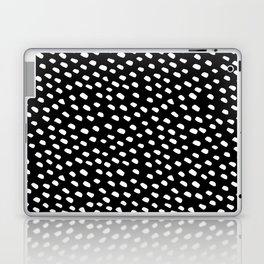 Brush Dot Pattern Black Laptop & iPad Skin