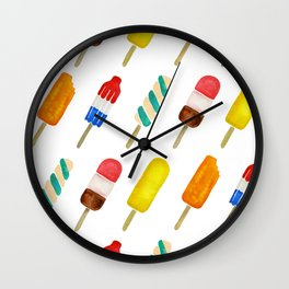 Popsicle Collection Wall Clock