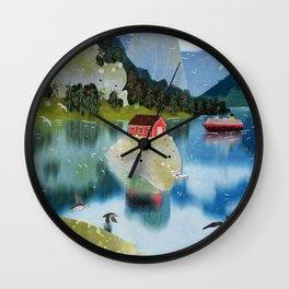 trollfjord Wall Clock