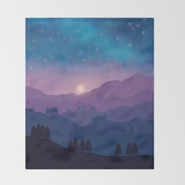 Mountain Sunset Throw Blanket