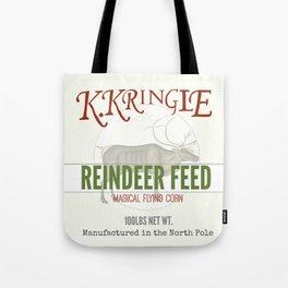 Christmas Reindeer Feed sack Tote Bag