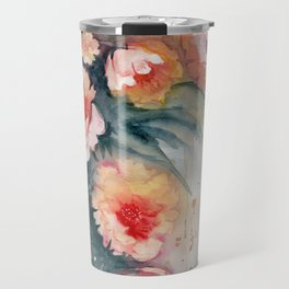 Floral Impressionist Watercolor Travel Mug