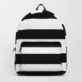 Stripe Black & White Horizontal Backpack