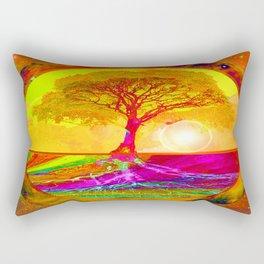 Tree of Life Sunrise Rectangular Pillow