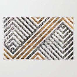 Geometric Wooden texture pattern Rug