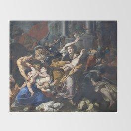 Milan - paint of Massacre of the Innocents from San Eustorgio church Throw Blanket