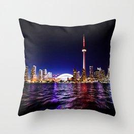 toronto city cn tower skydome Throw Pillow