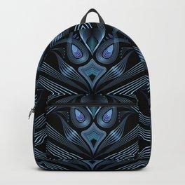 Art Deco 37. Black-blue satin . Backpack