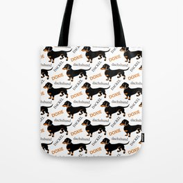 Black Tan Smooth Dachshund Tote Bag