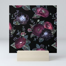 Fantasy Night Rose Red Mini Art Print