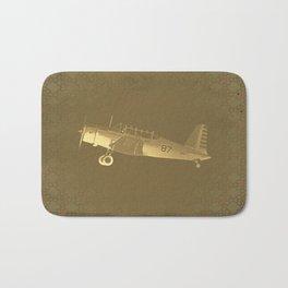 Retro Fighter Airplane #87 Bath Mat