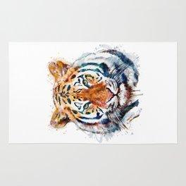 Tiger Head watercolor Rug