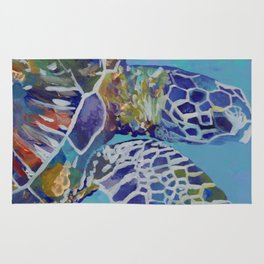 Honu Kauai Sea Turtle Rug
