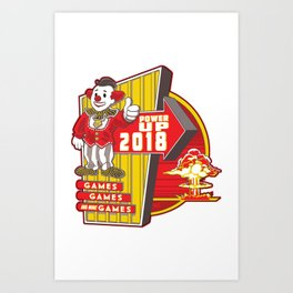Power Up 2018 Art Print
