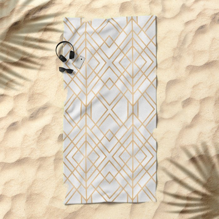 Golden Geo Beach Towel