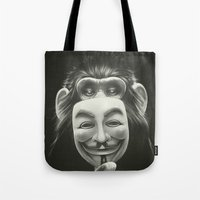ariana grande Tote Bags featuring Anonymous by Dr. Lukas Brezak