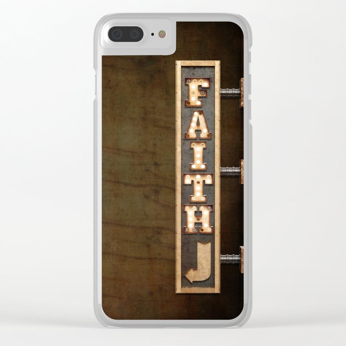 FAITH BILLBOARD Clear iPhone Case
