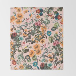 EXOTIC GARDEN XVIII Throw Blanket