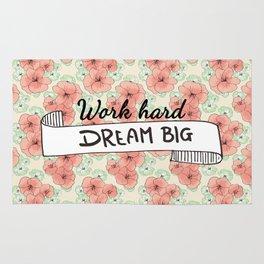 Work Hard Dream Big Rug