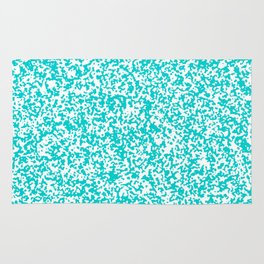 Tiny Spots - White and Cyan Rug