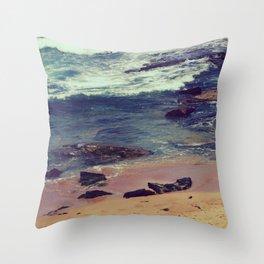 Retro style hot of Avalon beach Throw Pillow