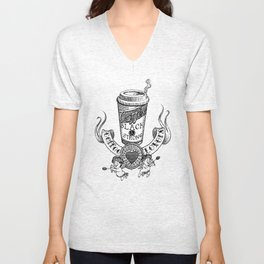 Coffee Lovers Unisex V-Neck