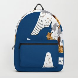 Flag of Louisiana -Louisianian,south, jazz,blues,french, new orleans, baton rouge,usa,america,us Backpack