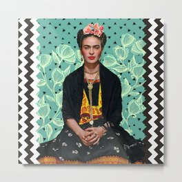 Lovely Frida Metal Print