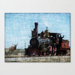 Iron Horse Invades the Plains Canvas Print