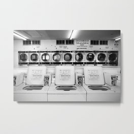 Fresno Laundromat Metal Print