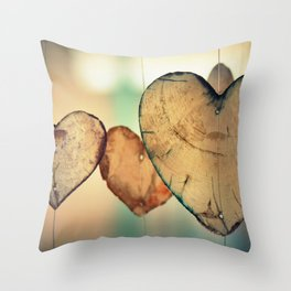 Hearts | Coeurs Throw Pillow