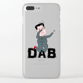 Kim Jong Un Dabbing Clear iPhone Case