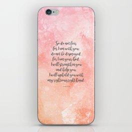 Isaiah 41:10, Uplifting Bible Verse iPhone Skin